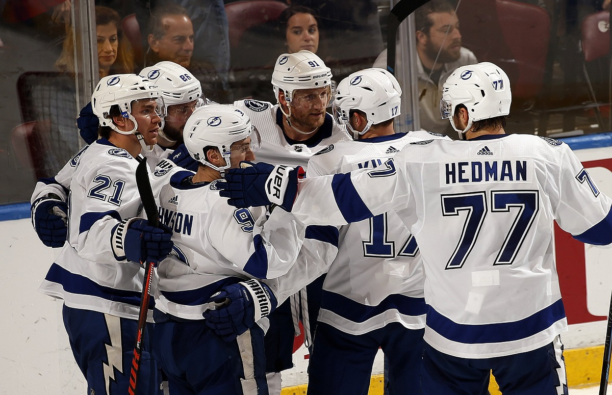 9542232adbd Tampa Bay Lightning rally with four consecutive goals to beat Florida  Panthers